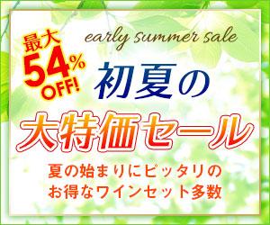 初夏の特別大セール