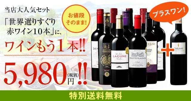 【特別送料無料】3大銘醸地入り!世界選りすぐり赤ワイン11本セット 86弾