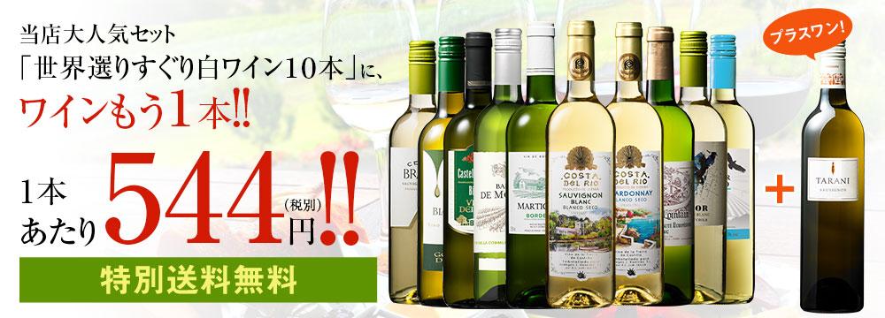 【特別送料無料】【52%OFF】世界選りすぐり白ワイン11本セット 第9弾