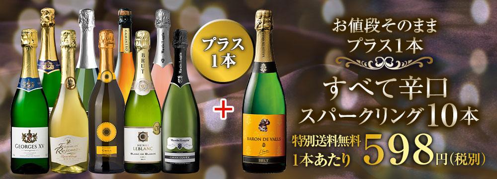 【特別送料無料】【ストッパー付】金賞&高評価&シャンパン製法入り!世界の厳選辛口スパークリング10本セット第26弾