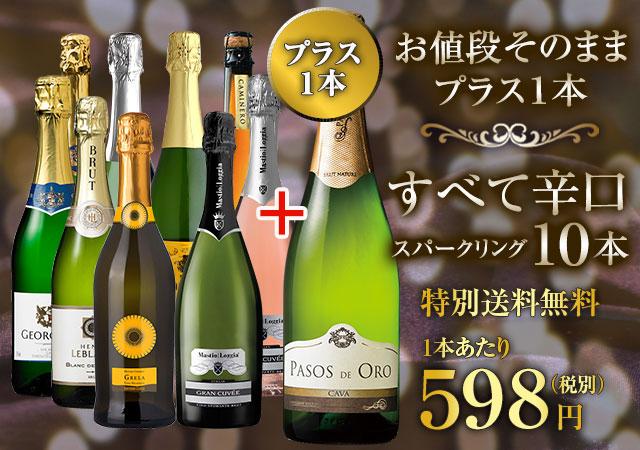 【特別送料無料】【ストッパー付】金賞&高評価&シャンパン製法入り!世界辛口スパークリング10本27弾