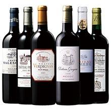 10年以上熟成ヴィンテージ飲み比べボルドー赤ワイン6本セット