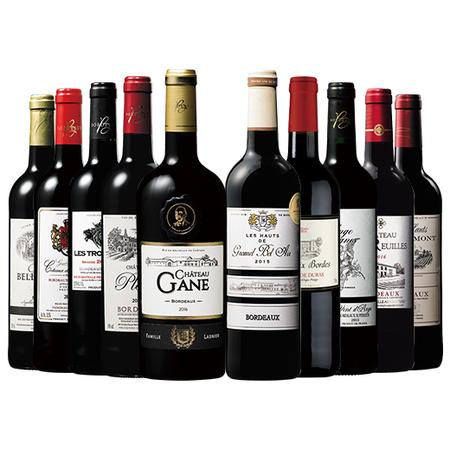 ボルドーグレートヴィンテージ2015&2016赤ワイン10本セット