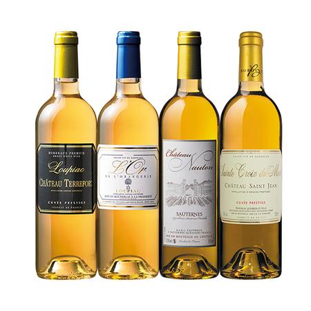 ソーテルヌ入り!ボルドー貴腐ワイン3アペラシオン飲み比べ4本セット