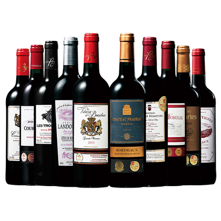 ボルドーグレートヴィンテージ2015&2016赤ワイン10本セット ※5月中旬より順次お届け
