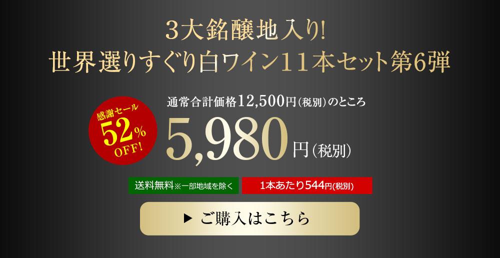【特別送料無料】【52%OFF】世界選りすぐり白ワイン11本セット 第6弾