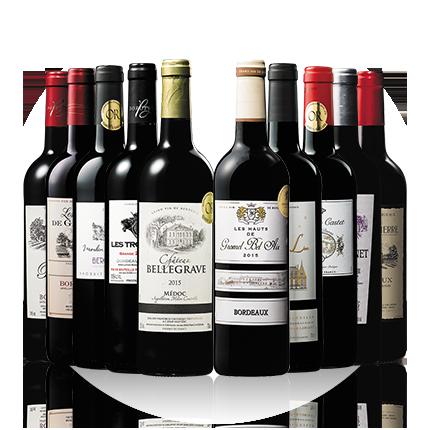 ボルドーグレートヴィンテージ2015&2016 赤ワイン飲み比べ10本セット