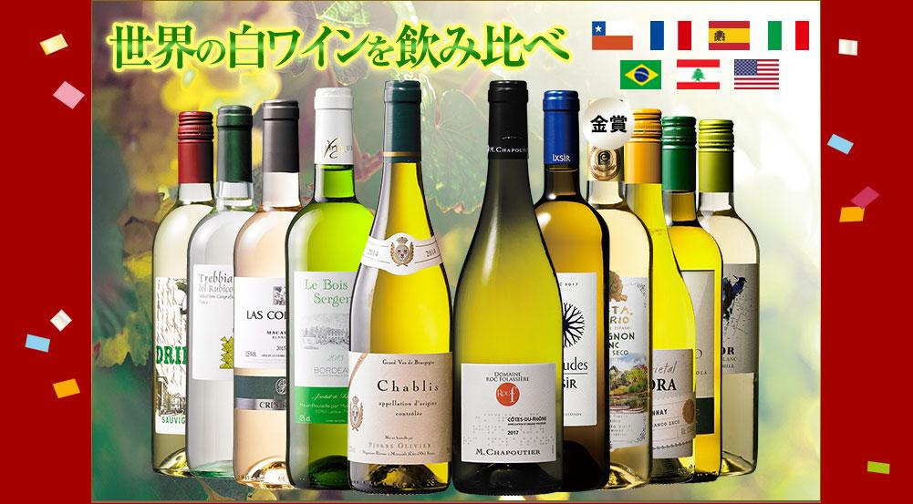 シャブリ&超有名ローヌ入り!世界銘醸地の白ワイン11本セット