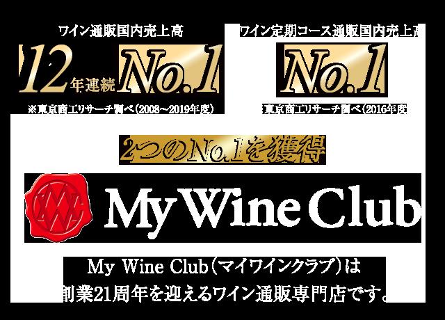 ワイン通販国内売上高12年連続No.1 定期コース通販国内売上高No.1 マイワインクラブ