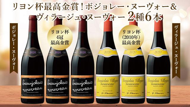 【早割10%】最高金賞ボジョレー・ヌーヴォー&ヴィラージュ・ヌーヴォー飲み比べ2種6本セット