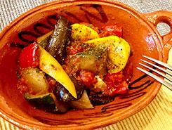 夏野菜のカラフルラタトゥイユ