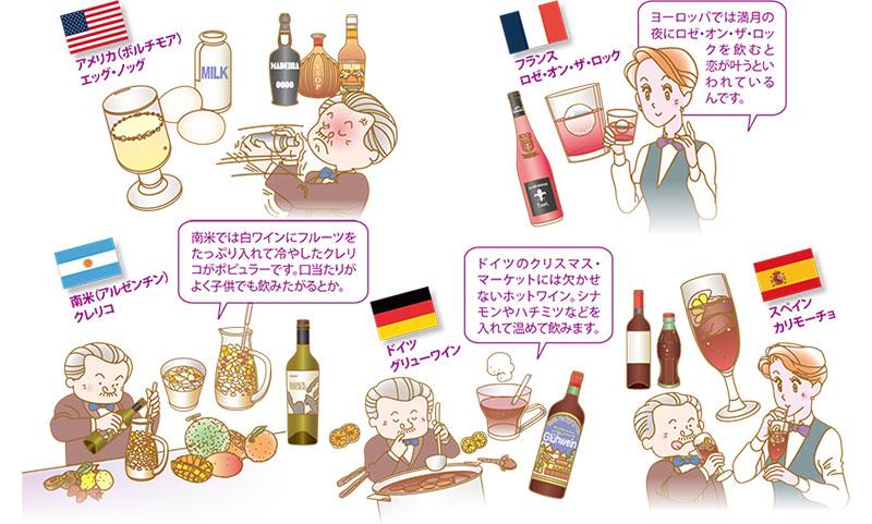 世界各国のお酒の楽しみ方