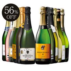 【56%OFF】瓶内二次発酵カバを含む世界銘醸国の泡12本セット 第37弾