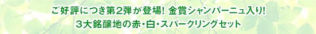 金賞シャンパーニュ入り! 3大銘醸地の赤・白・スパークリングセット
