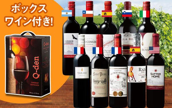 ボックスワイン入り!世界の赤ワイン10本セット第2弾