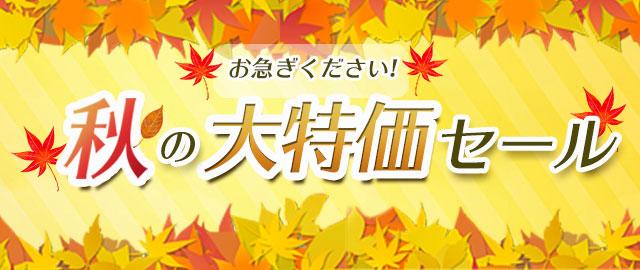 秋の大特価セール