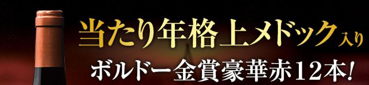 当たり年格上メドック入りボルドー金賞豪華赤12本!