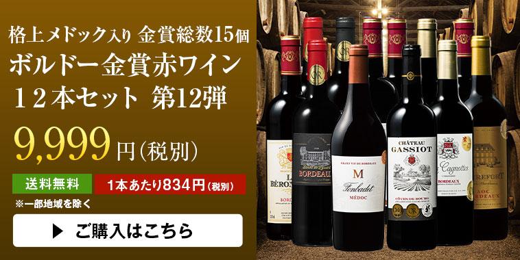 格上メドック入り 金賞総数15個 ボルドー金賞赤ワイン12本セット 第12弾