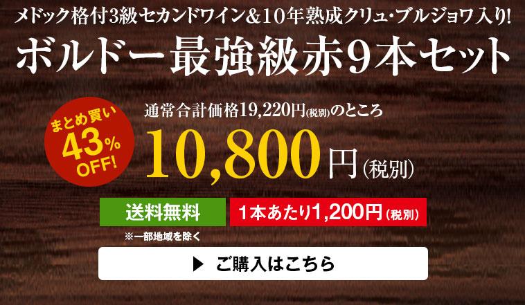 【43%OFF】カロン・セギュール・セカンド&10年熟成クリュ・ブルジョワ入り!ボルドー最強級赤9本