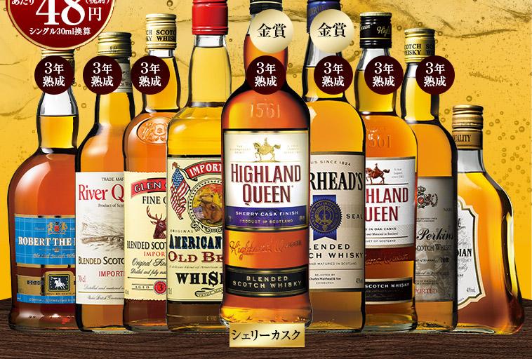 独占輸入スコッチ&カナディアンブレンドウイスキー9本セット