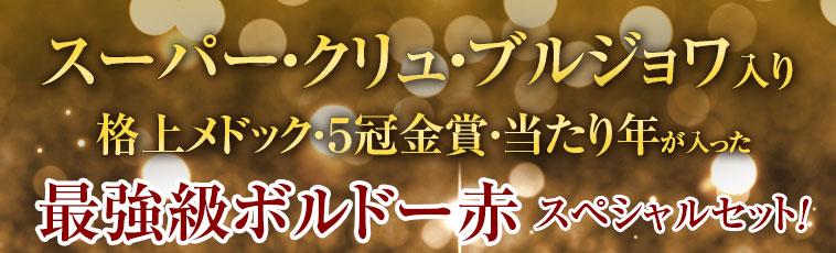 スーパー・クリュ・ブルジョワ入り 格上メドック・5冠金賞・当たり年が入った 最強級ボルドー赤スペシャルセット!