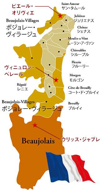 ボジョレー地図