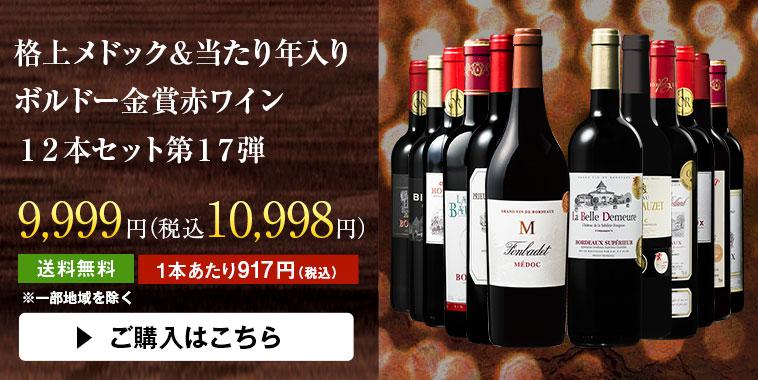 格上メドック&当たり年入りボルドー赤ワイン12本セット第17弾