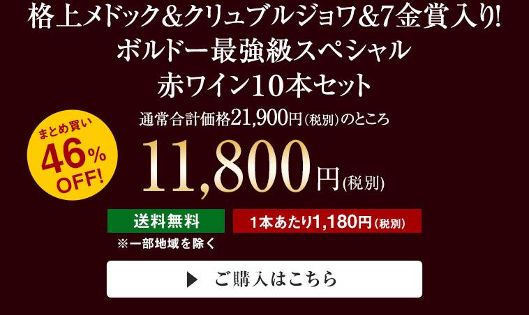 格上メドック&クリュブルジョワ&7金賞入り!ボルドー最強級スペシャル赤ワイン10本セット