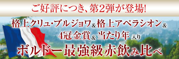 【46%OFF】格上メドック&クリュブルジョワ&4金入り!ボルドー最強級スペシャル赤10本 第2弾