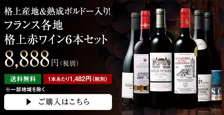 【正月限定】11年連続NO.1記念 格上産地&熟成ボルドー入り! フランス各地格上赤ワイン6本セット