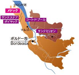 メドックの地図