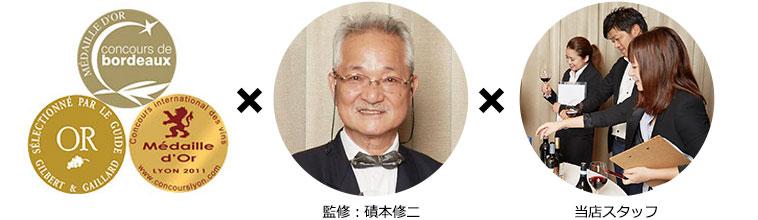 金賞/監修:磧本修二、各務寛子/マイワインクラブスタッフ
