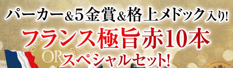 パーカー&5金賞&格上メドック入り!フランス極旨赤10本スペシャルセット