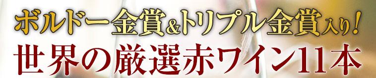 ボルドー金賞&トリプル金賞入り!世界の厳選赤ワイン11本