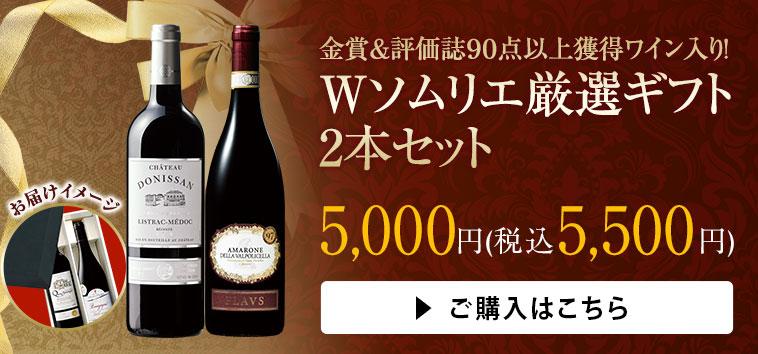 金賞&評価誌90点以上獲得ワイン入り! Wソムリエ厳選ギフト2本セット