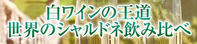 白ワインの王道世界のシャルドネ飲み比べ