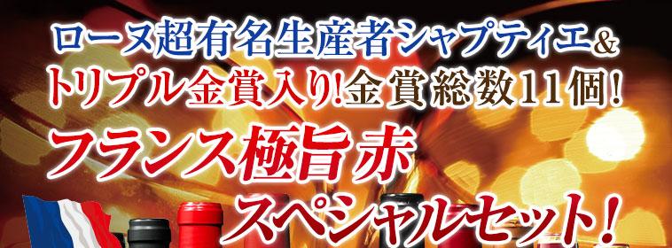 ローヌ超有名生産者シャプティエ& トリプル金賞入り!金賞総数11個!フランス極旨赤 スペシャルセット10本
