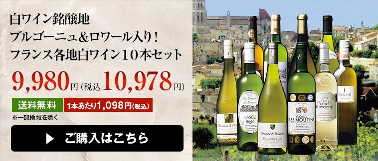 白ワイン銘醸地ブルゴーニュ&ロワール入り!フランス各地白ワイン10本セット