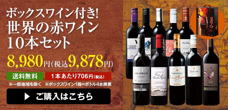 ボックスワイン&世界の赤ワイン10本セット
