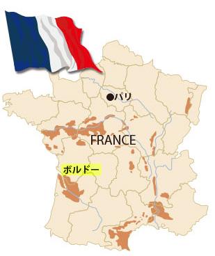 フランス・ボルドーの地図