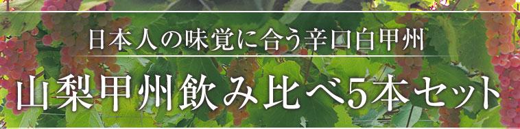 日本人の味覚に合う辛口白甲州 山梨甲州飲み比べ5本セット