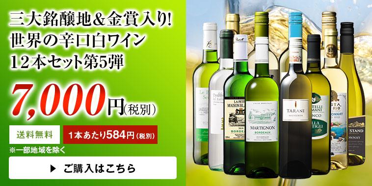 三大銘醸地&金賞入り!世界の辛口白ワイン12本セット第5弾