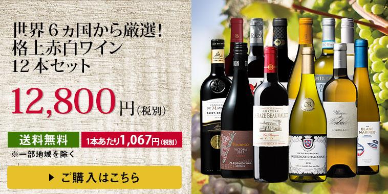 世界6ヵ国から厳選!格上赤白ワイン12本セット