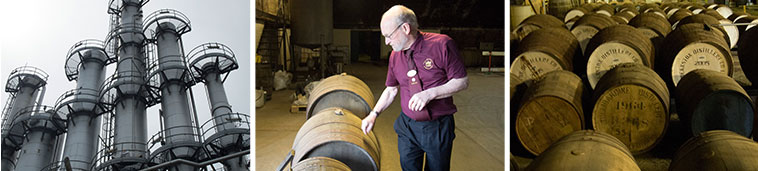 スコッチ・ウィスキーの製造の様子