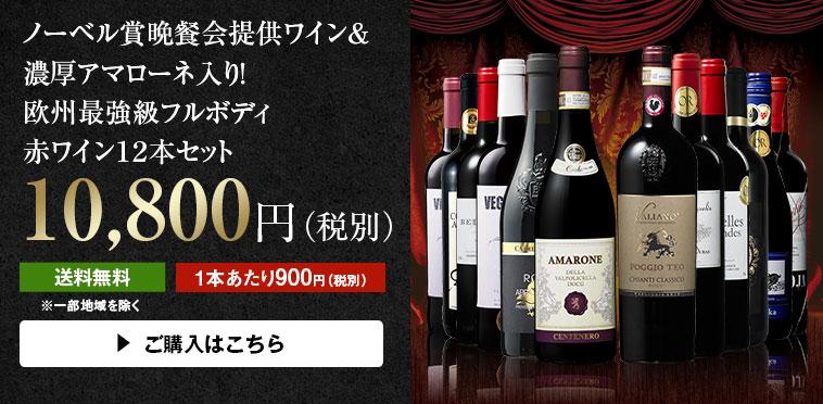 【48%OFF】ノーベル賞晩餐会提供ワイン&濃厚アマローネ入り!欧州最強級フルボディ赤ワイン12本