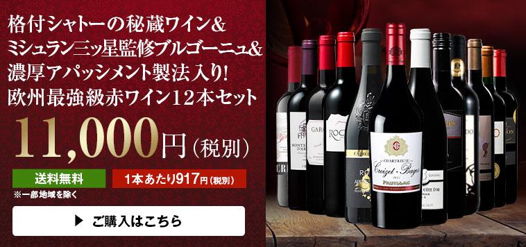 【51%OFF】格付シャトーの秘蔵ワイン&ブルゴーニュ&アパッシメント製法入り!欧州最強級赤12本セット