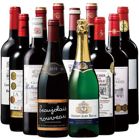 【48%OFF】3年連続最高金賞ボジョレー&スパークリング付!ボルドー最強級赤ワイン10本セット