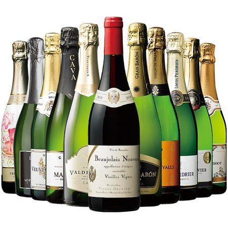 【44%OFF】古樹ボジョレー&世界の厳選辛口スパークリングワイン10本セット