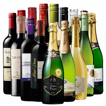 【54%OFF】伝説のモンペラ&高級辛口シャンパン入り!世界の赤白泡16本セット