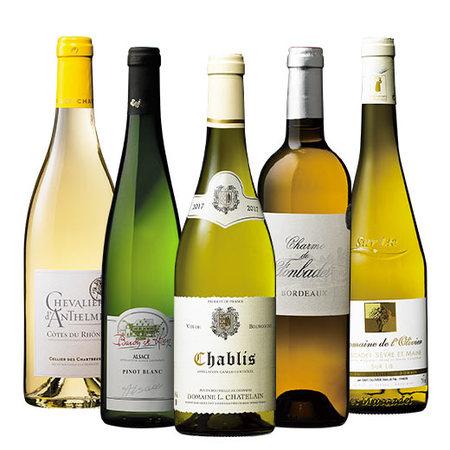 【29%OFF】シャブリ&銘醸地ボルドー入り!フランス白ワイン5本セット 第2弾